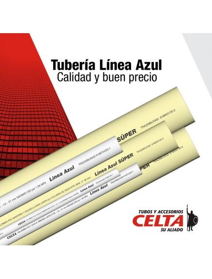 TUBO LINEA AZUL 4 PG X 6 MT