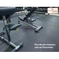 PISO Caucho Gimnasio 50x50 10 mm grosor