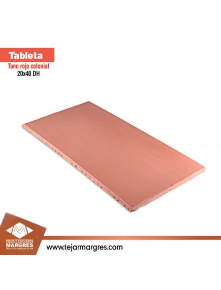 TABLETA 20X40 COL LISA ROJA
