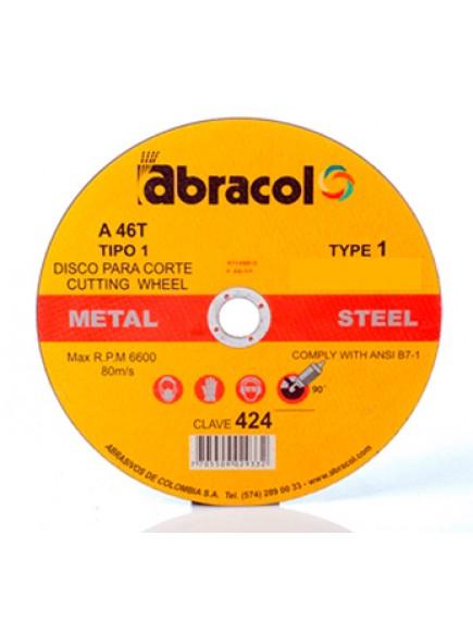 Disco Corte 4 1/2 x 1/8 Abracol 946