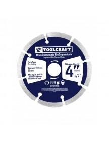 """Disco Diamantado De Corte Segmentado 4 1/2"""" Ref TC2434 TOOLCRAFT."""