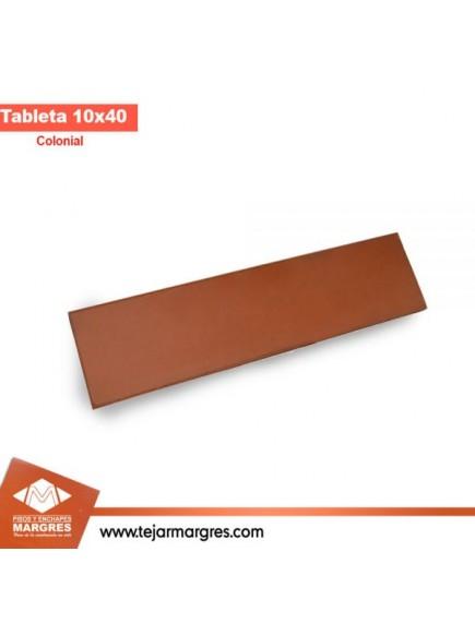 tableta 10x40 colonia lisa roja