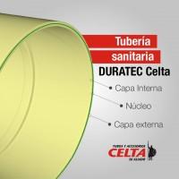 """Tubo Sanitario Duratec  de 4""""   (unidad X 6MT)"""