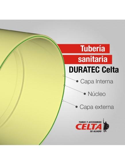TUBO SANITARIA DURATEC 4 PG X 6 MT