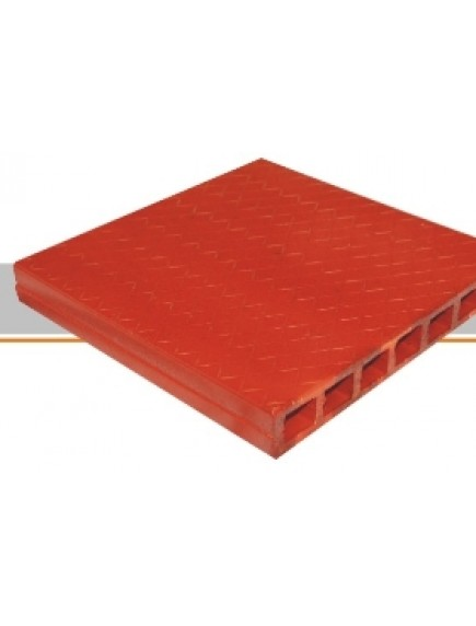 Tableta 30 X 30 Vitrificada Roja Grafilada