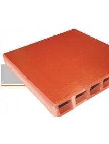Tableta 30 X 30 Vitrificada Naranja Lisa
