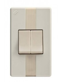 Interruptor doble beige 911