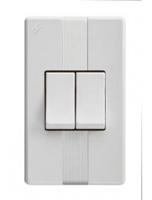Interruptor doble blanco 1911 abitare
