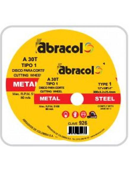 Disco Corte 12 Pg x 1/8 x 1 Abracol 926