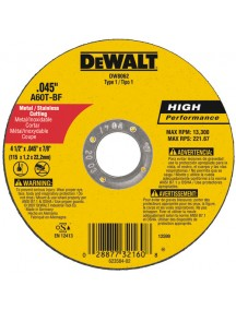 Disco Corte Super Fino 4 1/2 pg DW8062
