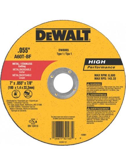 Disco Corte Super Fino 7 pg DW8065