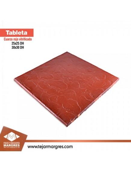 Tableta 25 x 25  Cuarzo Vitrificada  DH  Roja