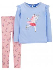 Conjunto de leggings y top de jersey de unicornio de 2 piezasCarter´s